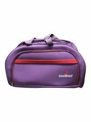 Unistar Red,Purple Polyester Luggage Travel Bag