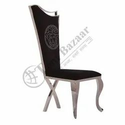 Tent Bazaar Black and Silver WDC-04 Dining Chairs