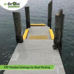 FRP Molded Grating For Boat Parking
