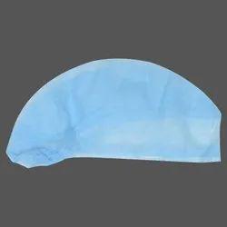 Blue Non Woven Disposable Surgeon Cap, Size: M