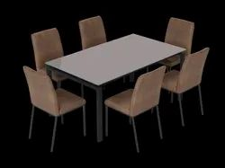 Godrej 1 Table,6 Chairs Gloria 6 Seater Dining Table Set, Size/Dimension: 160 X 75 X 90cm (w X H X D)