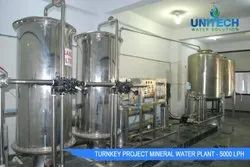 5000 LPH Mineral Water Turnkey Project
