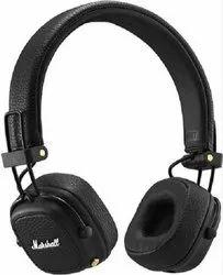 Black Over The Head Marshall Major III Bluetooth Wireless On-Ear Headphone, 177 Gms