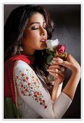 Nayaab JamSatin Designer Churidar Suit, Work: Embroidered, Dry clean