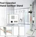 Automatic Hand Sanitizer Dispenser Stand Foot Operated Touchless Machine