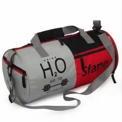 Red Sfane Polyester Stylish Sports Bag With Shoe Compartment, 19 Inches