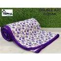 Purple Printed Double Bed AC Dohar Blanket