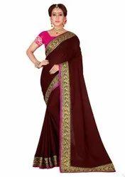RAAG CREATION Festive Wear MAROON RANGOLI SILK SAREE, With blouse piece, 5.5 m (separate blouse piece)