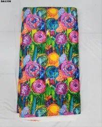Stunning Baby Sartin Silk Digital Print Fabric