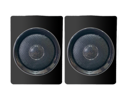 2 Speakers Black UT 501 Unitech Music Satellites System