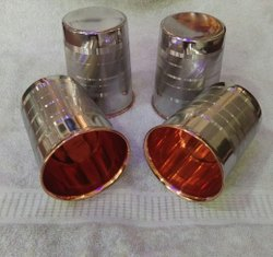 Silver Luxury Steel Copper Glass Set, For Hotel, Capacity: 300 Ml