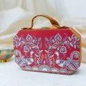 MDF Suitcase Fabric Clutch