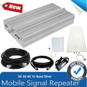 High Gain 2G, 3G, 4G Tri Band Mobile Signal Booster Fully Kit (Coverage 8000 sq. Feet)