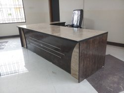Wooden Office Tables, 6 Months, Brown