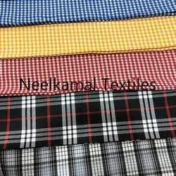 Twill Checks Suitings Fabric