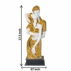 Gold Plated Love Couple Statue & Showpiece Decorative Item