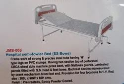 Standard Stainless Steel Hospital Semi Fowler Bed Eco Model, Polished