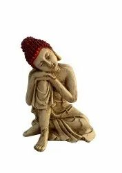 FRP Red Head Buddha 6 inches tall