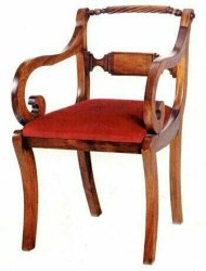 Brown English Regency Wooden chair