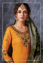 Embroidered Unstitched Ladies Dress Material