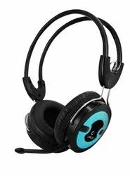 Wired Black Circle Concerto 203 Single Pin Headphone With Mic, 200 G