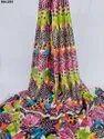 Amazing Semi Velvet Sateen Silk Digital Print Fabric