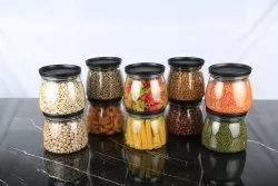 Round Kitchen Storage Plastic Matka Shape Containers- (Set Of 10), Size/Dimension: 10 Containers-800 ML