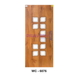 Wood Brown WC 6076 White Cutting Decorative Door