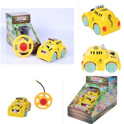 Yellow Plastic Remote Control Animal Car