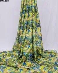Gorgeous Semi Velvet Sateen Silk Digital Print Fabric