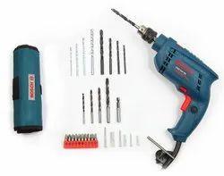 10mm Bosch GSB 450-Watt Impact Drill Set (Blue, 100-Pieces), 0-2600 Rpm