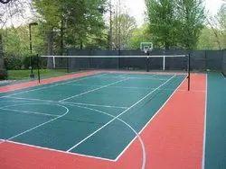 PP Tiles for Basketball Court