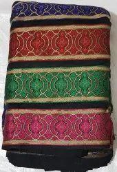 Cotton Designer Embroidery Fabrics, Check/stripes, Multicolour
