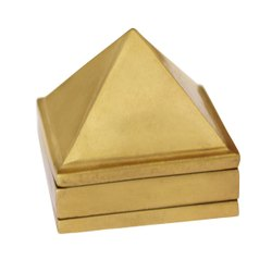 Vastu Pyramid Yantra in Brass for Vastu Correction Brass Yantra  (Pack of 1)