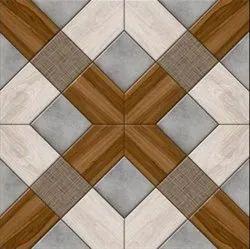Multicolor Digital Porcelain Floor Tile, Thickness: 10-15 mm, Size: 60 * 60 in cm