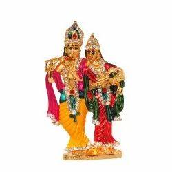 Radha Krishna With Stone Work Car Dashboard Statue / Idol