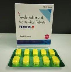 Fexofenadine 120, Montelucast 10 mg