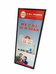 Acrylic Rectangle Printed Flex Banner, For Advertising