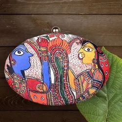 Oval Shape Printed Clutches