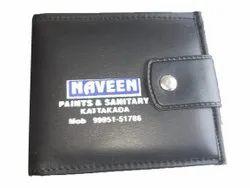 Foam Leather Bi Fold Mens Black Wallet, 2