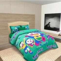 Jaipuri Green Bedsheet