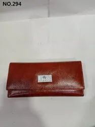 Plain Leather Ladies Wallets, Compartments: 3 Fold Wallet