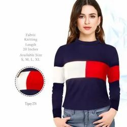 Ladies Regular Fit Cotton Knitted Top