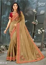Fancy Designer Silk Saree