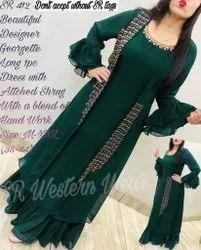 Designer Georgette Long 1 Piece Dress
