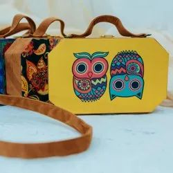 MDF Suitcase Fabric Clutch