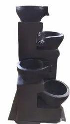Black Fiber Water Fountain, For Interior Decor