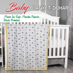 Soft Muslin Baby Blanket / Dohar