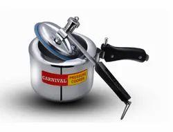 Silver Aluminium 3 L Regular Carnival Pressure Cooker, For Home