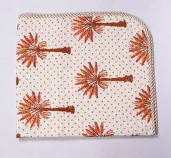 Palm Tree Printed Baby Kantha Quilt